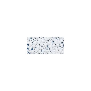Perles indiennes. 4.5 mm ø<br />blanc