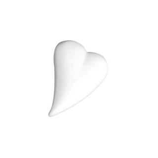 Coeur en polystyrene, forme de goutte<br />12x8,5 cm