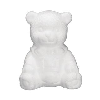 Ourson en polystyrene, asssis<br />16 cm