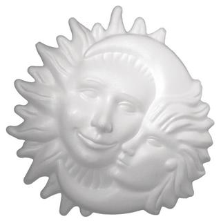 Soleil-et-lune en polystyrene<br />26 cm ø