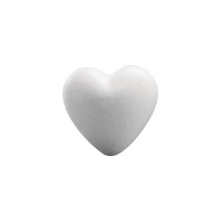 Coeur en polystyrene, plein <br />12 cm