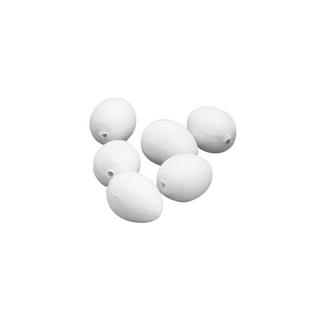 Oeufs en ouate. blancs<br />29x38 mm. sct.-LS 10 pces