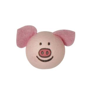 Tete en ouate: Cochon avec oreilles 22 mm sc,6 pièces<br />ø 22 mm. sct.-LS 6 pces