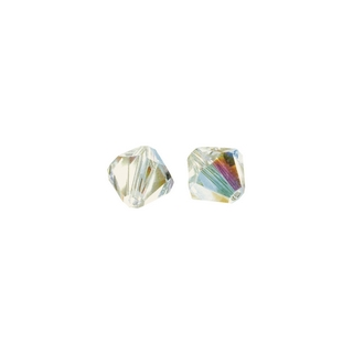 Perles cristal Swarovski toupie 4 mm ø. <br />aurore boreale