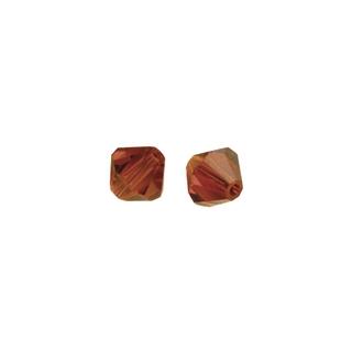 Perles cristal Swarovski toupie 4 mm ø. <br />orange sanguine