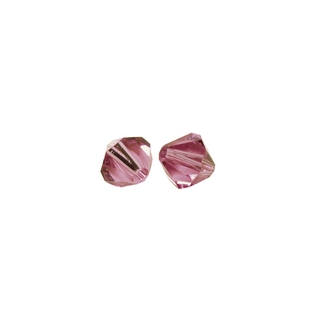 Perles cristal Swarovski toupie 4 mm ø. <br />rose chiffon