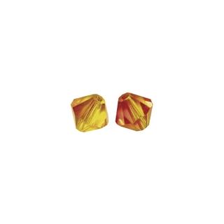 Perles cristal Swarovski toupie 4 mm ø. <br />rouge feu