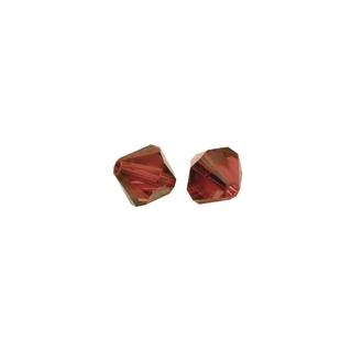 Perles cristal Swarovski toupie 4 mm ø. <br />rouge carmin