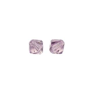Perles cristal Swarovski toupie 4 mm ø. <br />violet