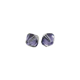 Perles cristal Swarovski toupie 4 mm ø. <br />bleu-violet