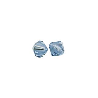 Perles cristal Swarovski toupie 4 mm ø. <br />bleu azur