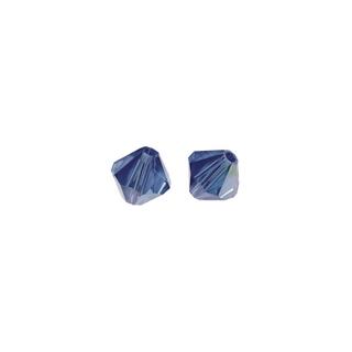 Perles cristal Swarovski toupie 4 mm &oslash;. <br />bleu royal