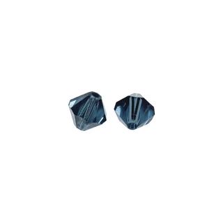 Perles cristal Swarovski toupie 4 mm &oslash;. <br />indigo
