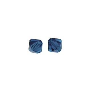 Perles cristal Swarovski toupie 4 mm ø. <br />bleu nuit