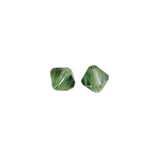 Perles cristal Swarovski toupie 4 mm ø. <br />emeraude