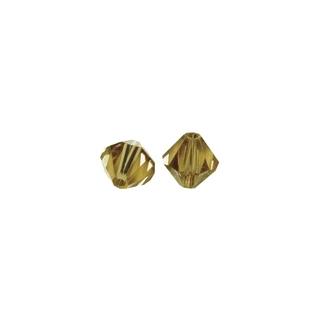 Perles cristal Swarovski toupie 4 mm ø. <br />caramel