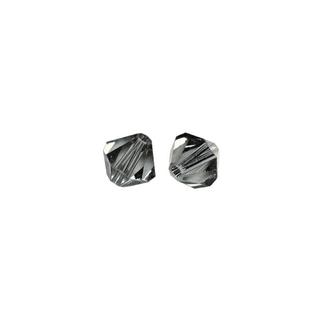 Perles cristal Swarovski toupie 4 mm ø. <br />gris argente