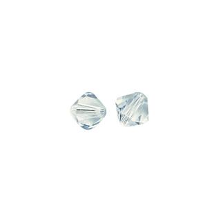 Perles cristal Swarovski toupie 4 mm &oslash;. <br />bleu glace
