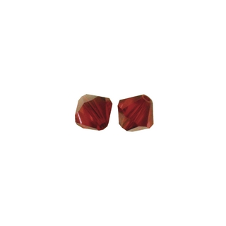 Perles cristal Swarovski toupie 4 mm &oslash;. <br />grenat