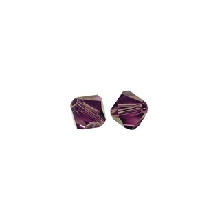 Perles cristal Swarovski toupie 4 mm ø. <br />amethyste