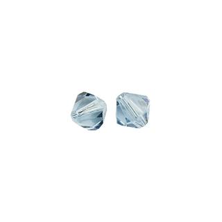 Perles cristal Swarovski toupie 4 mm ø. <br />aigue-marine