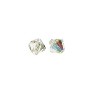 Perles cristal Swarovski toupie 6 mm ø. <br />aurore boreale