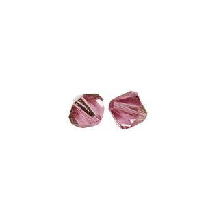 Perles cristal Swarovski toupie 6 mm ø. <br />rose chiffon