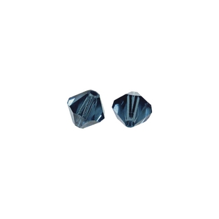 Perles cristal Swarovski toupie 6 mm ø. <br />indigo