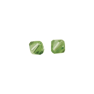 Perles cristal Swarovski toupie 6 mm ø. <br />jade