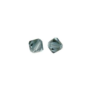 Perles cristal Swarovski toupie 6 mm ø. <br />topaze fumee