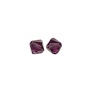 Perles cristal Swarovski toupie 6 mm ø. <br />amethyste