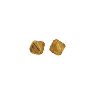 Perles cristal Swarovski toupie 8 mm &oslash;. <br />corail
