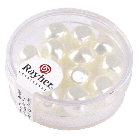 Perle Renaissance 9 mm ø. boîte 13 pces<br />blanc neige
