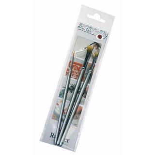 Set de pinceaux<br />sachet 1 set 2 mm. 4 mm. 8 mm