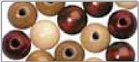 Lentille en bois, polie, 14 mm<br />teinte brune