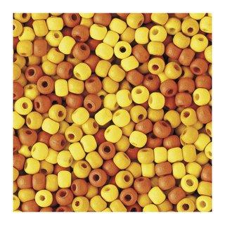 Perles en bois, mates, 4 mm<br />Teintes jaunes
