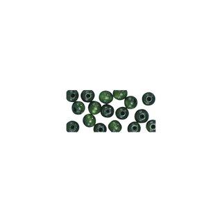 Perles en bois, polies, 10 mm ø, rondes<br />vert