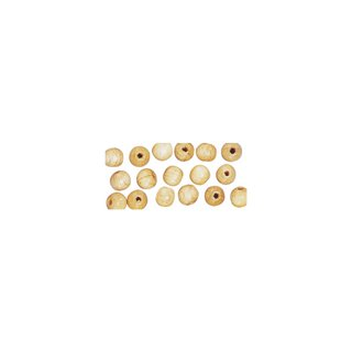 Perles en bois, polies, 14 mm ø, rondes<br />nature