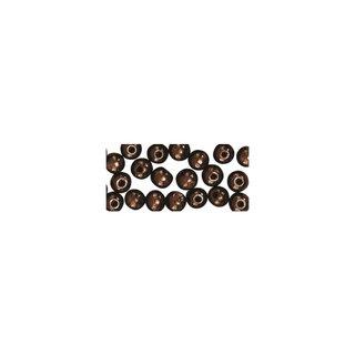 Perles en bois, polies, 4 mm ø, rondes<br />brun fonce