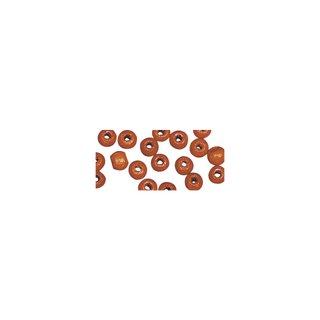 Perles en bois, polies, 6 mm ø, rondes<br />orange