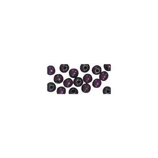 Perles en bois, polies, 6 mm ø, rondes<br />lilas fonce