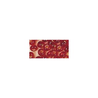 Rocailles. 2 mm ø. avec garniture argent<br />rouge