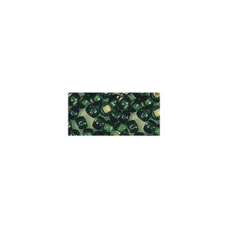 Rocailles. 2 mm ø. avec garniture argent<br />vert