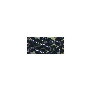 Rocailles. 2 mm ø. avec garniture argent<br />lilas fonce
