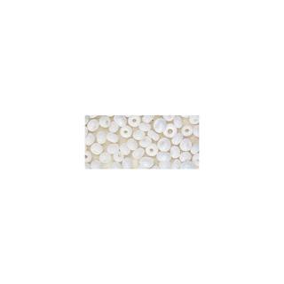 Rocailles. 2 mm ø. opaques<br />blanc