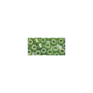 Rocailles. 2 mm ø. opaques lustre<br />vert clair