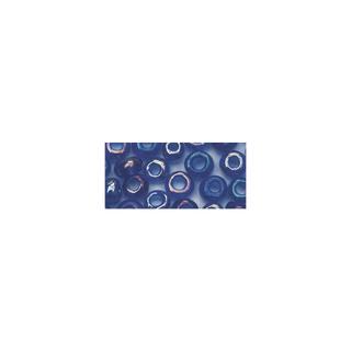 Rocailles. 2.6mm ø. transparentes lustre<br />bleu fonce