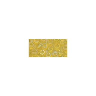 Rocailles. 2.6mm ø. transparentes lustre<br />jaune