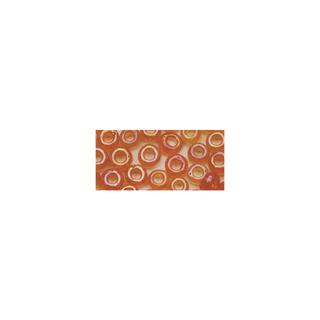 Rocailles. 2.6mm ø. transparentes lustre<br />orange