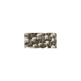 Perle a rainures, Olive, 10x13 mm<br />argent